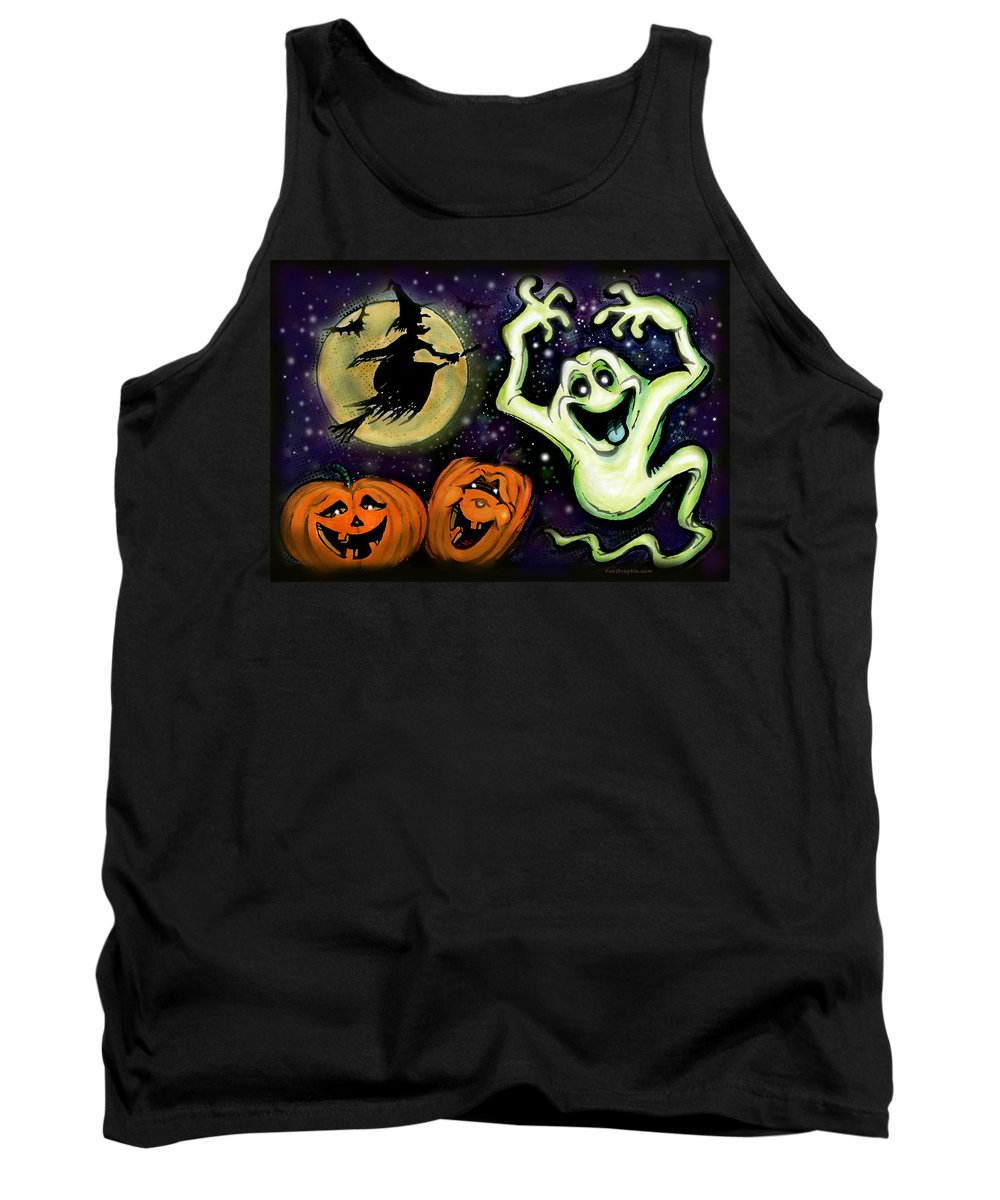 Halloween Tank Top featuring the painting Spooky by Kevin Middleton