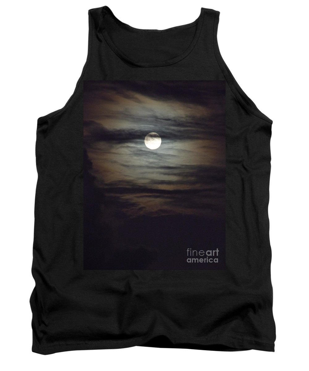 Mary Deal Tank Top featuring the photograph Spooky Moon by Mary Deal