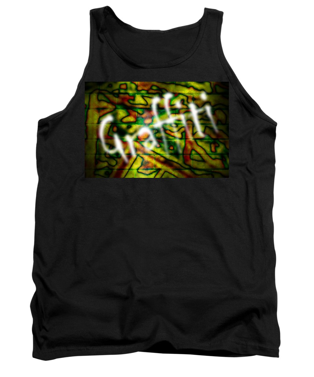 Graffiti Tank Top featuring the photograph Spray Painted Graffiti by Phill Petrovic
