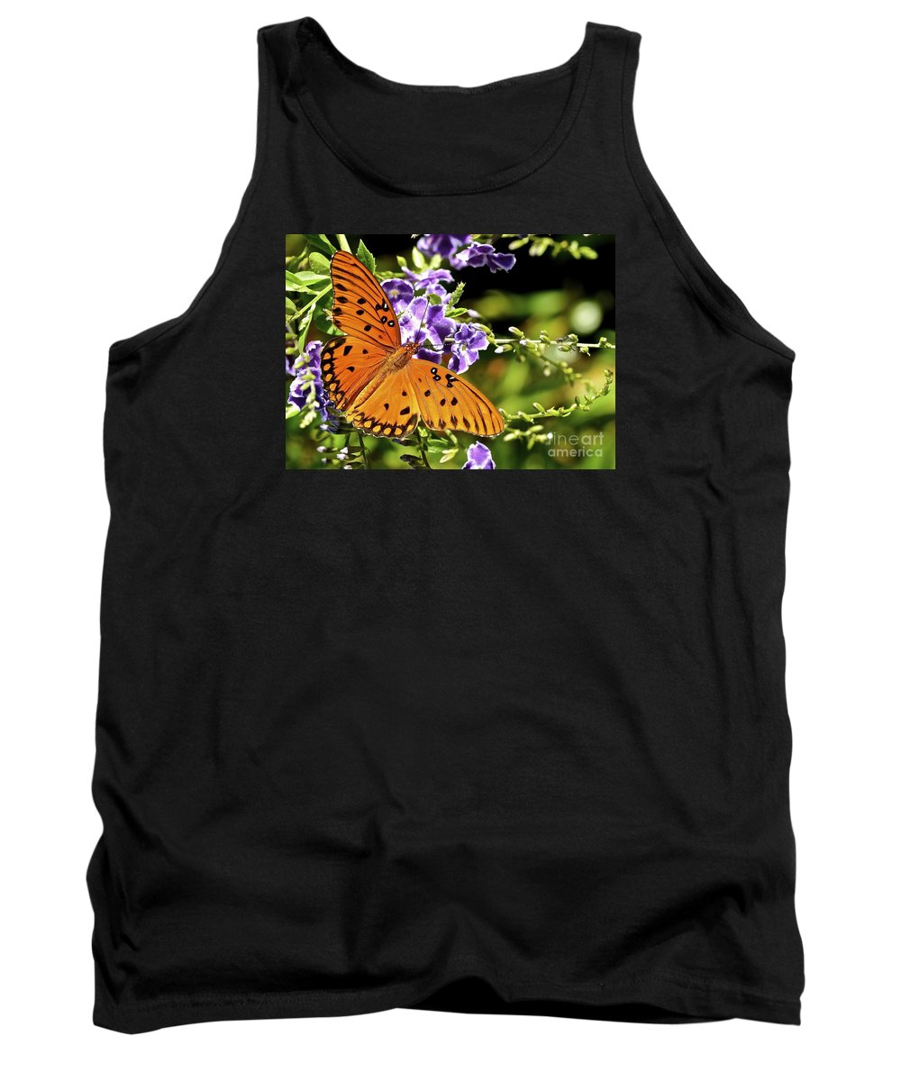Butterfly Tank Top featuring the photograph Spread Your Wings by Lisa Renee Ludlum