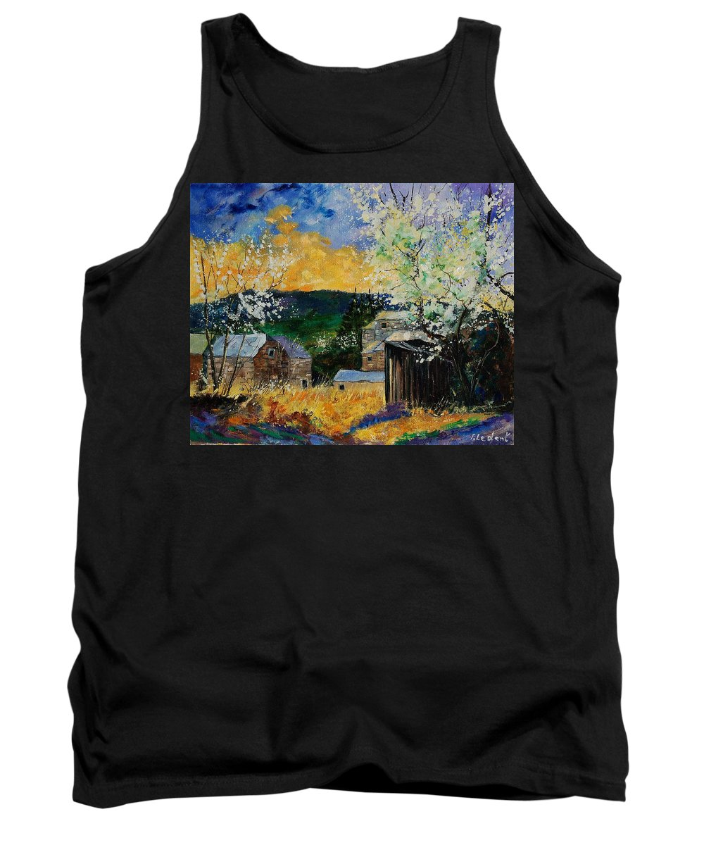 Spring Tank Top featuring the painting Spring 45 by Pol Ledent