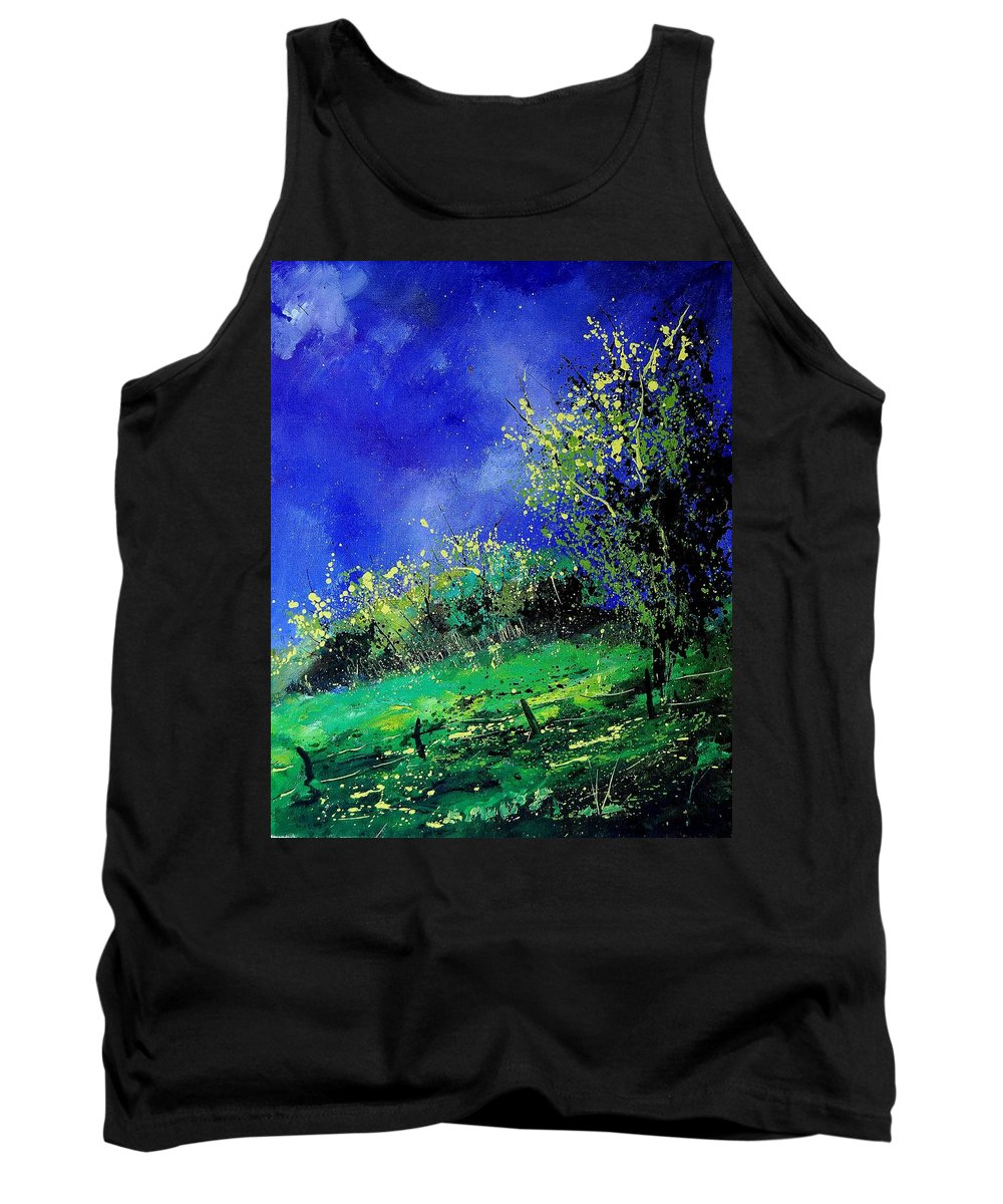 Spring Tank Top featuring the painting Spring 459060 by Pol Ledent