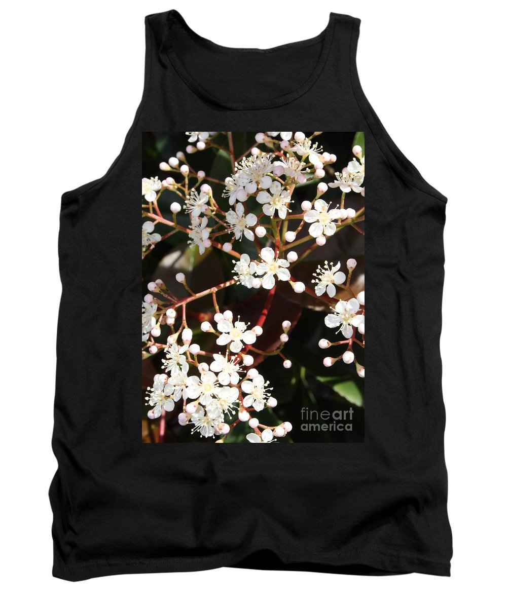 Spring Tank Top featuring the photograph Spring Blossoms Macro by Carol Groenen