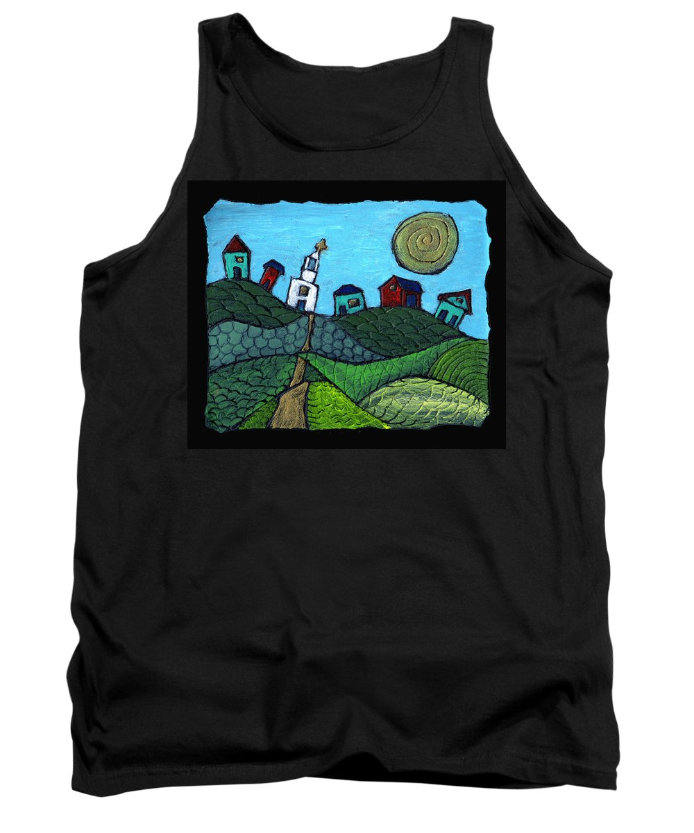 Whimsical Tank Top featuring the painting Spring Comes To The Valley by Wayne Potrafka