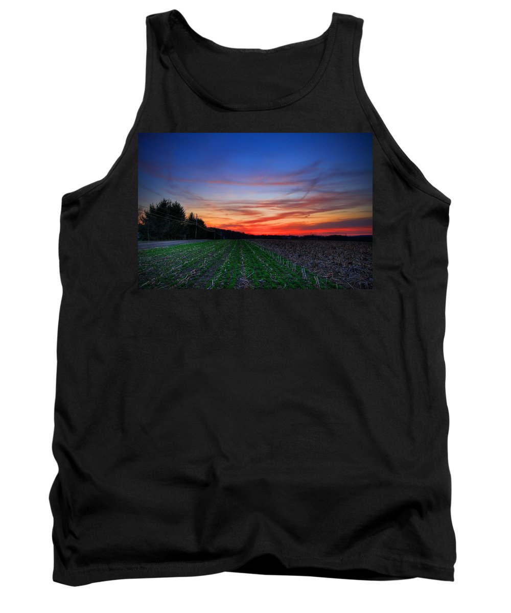 Field Tank Top featuring the photograph Spring Field by Evelina Kremsdorf