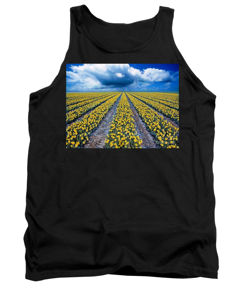 Flowers Tank Top featuring the photograph Spring Fields by Jacky Gerritsen