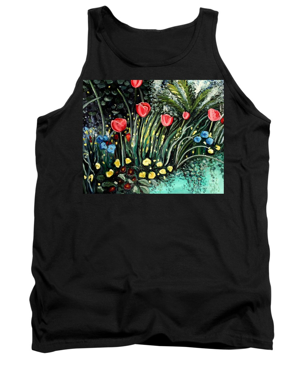 Impressionistic Tank Top featuring the painting Spring Garden by Elizabeth Robinette Tyndall