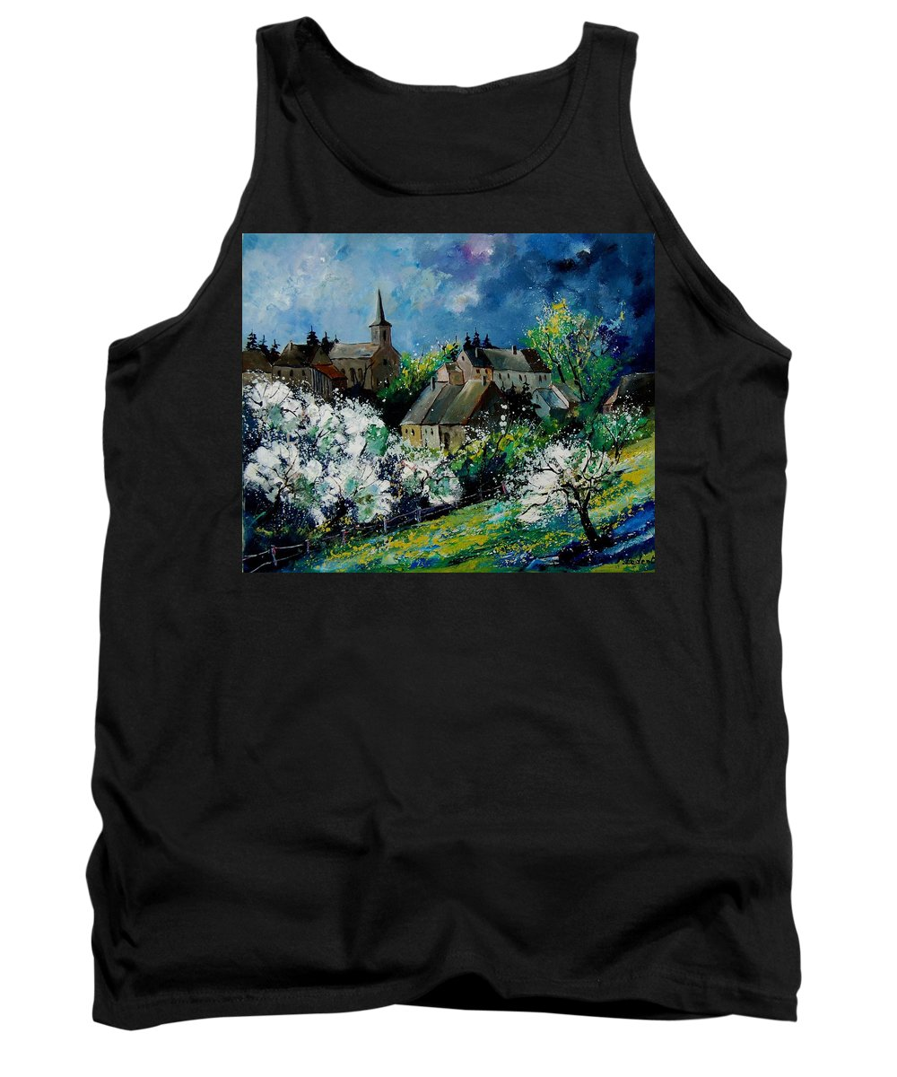 Spring Tank Top featuring the painting Spring In Fays Famenne by Pol Ledent