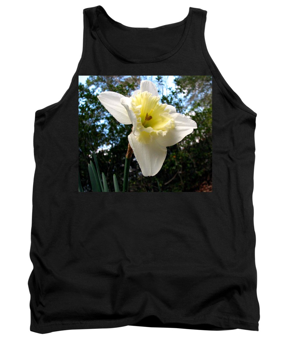 Daffodil Tank Top featuring the photograph Spring's First Daffodil 3 by J M Farris Photography
