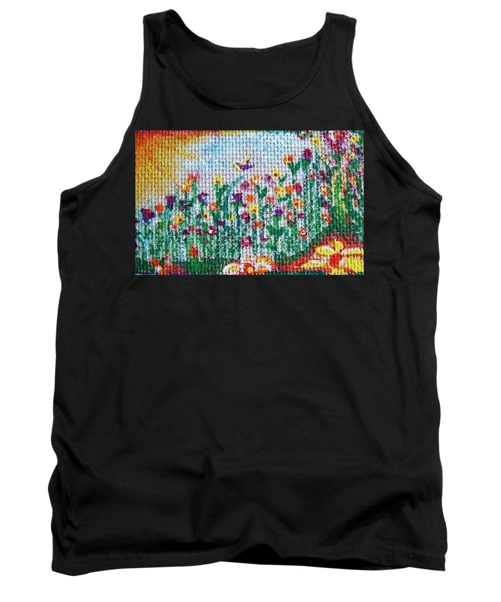 Saison Tank Top featuring the painting Springtime by Nila Poduschco