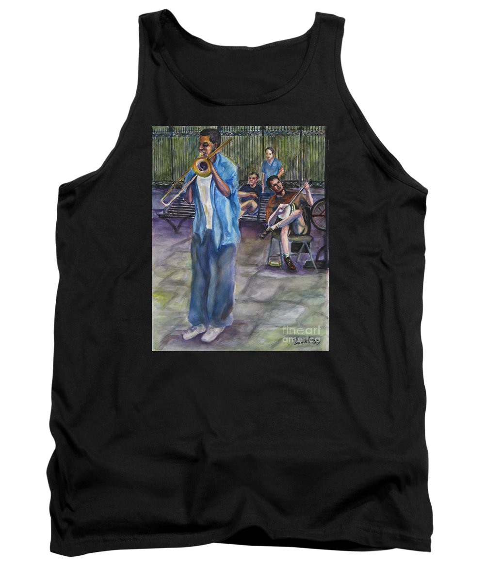 New Orleans Tank Top featuring the painting Square Slide by Beverly Boulet