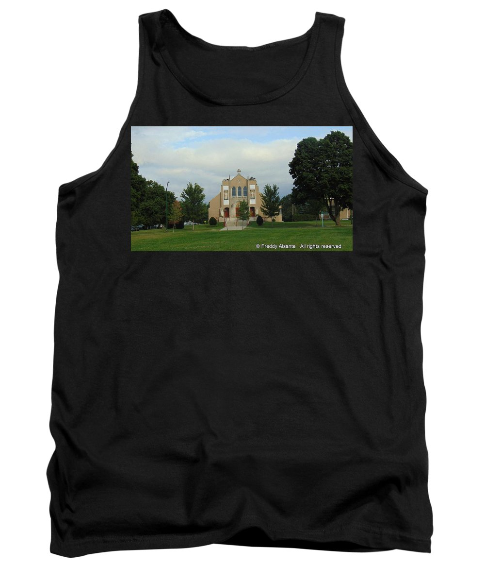 Tank Top featuring the photograph St. Basil's Church Utica, Ny by Freddy Alsante