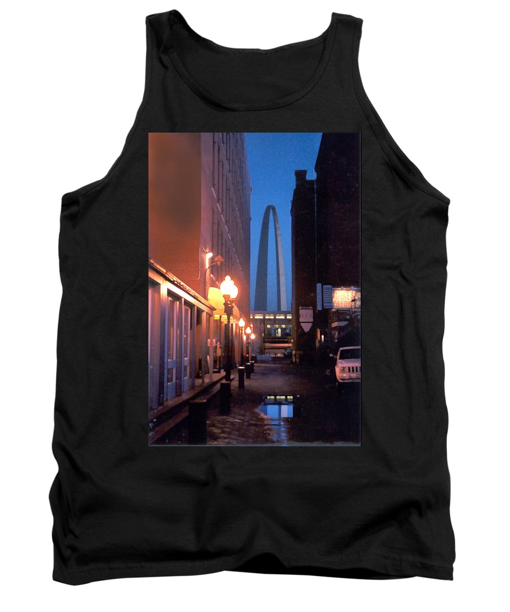 St. Louis Tank Top featuring the photograph St. Louis Arch by Steve Karol