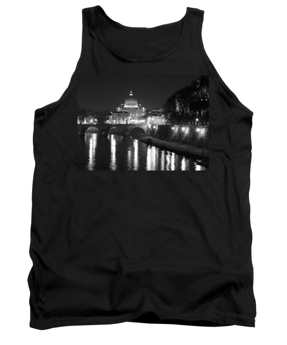 Italy Tank Top featuring the photograph St. Peters At Night by Donna Corless
