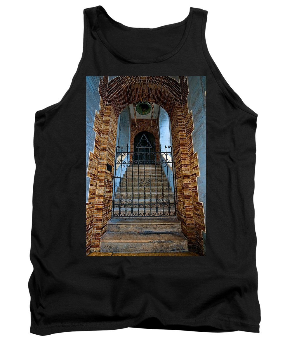 Architecture Tank Top featuring the photograph Stairs Beyond by Christopher Holmes