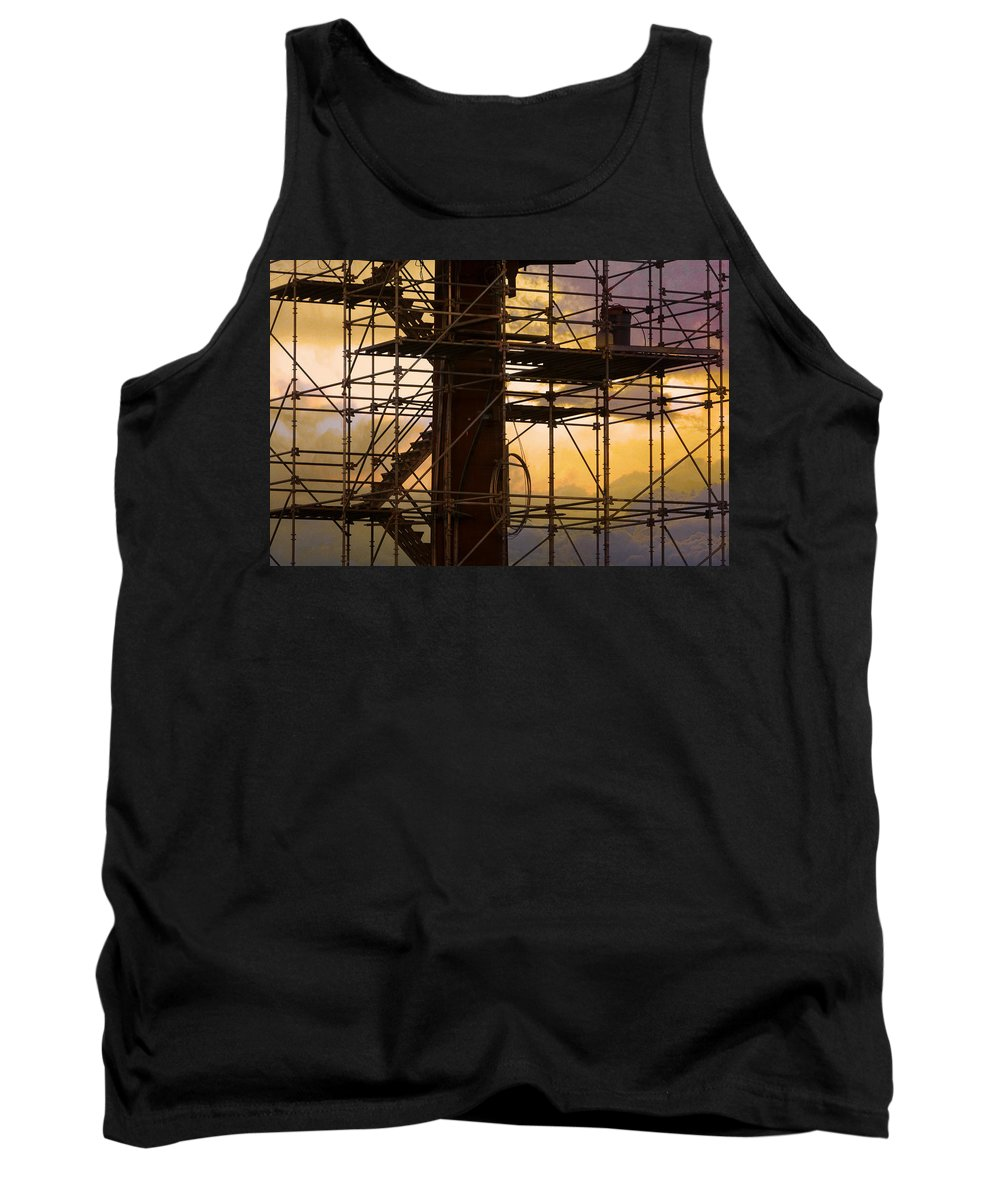 Abstract Tank Top featuring the photograph Stairs Lines And Color Abstract Photography by James BO Insogna