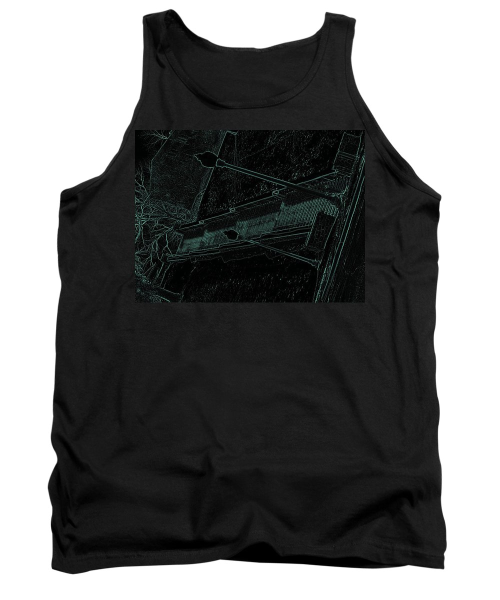 Black Tank Top featuring the photograph Stairway To-blue by Charleen Treasures