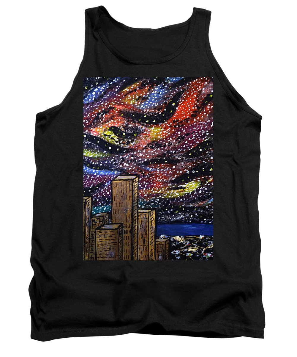 Cityscape Tank Top featuring the painting Star Dancing by Teressa Nichole