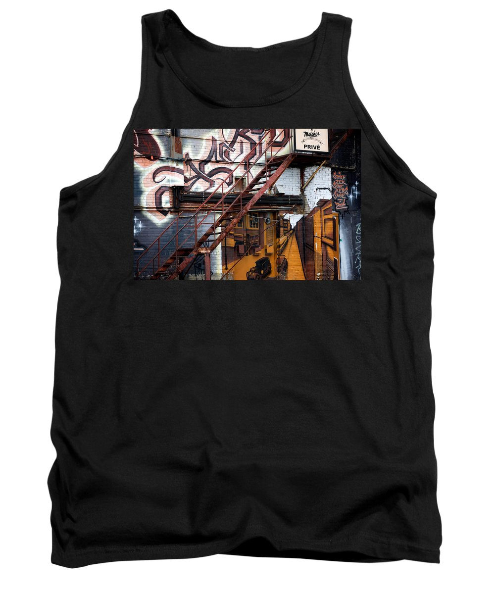 Interior Design Tank Top featuring the photograph Stare Stair by Lisa Knechtel