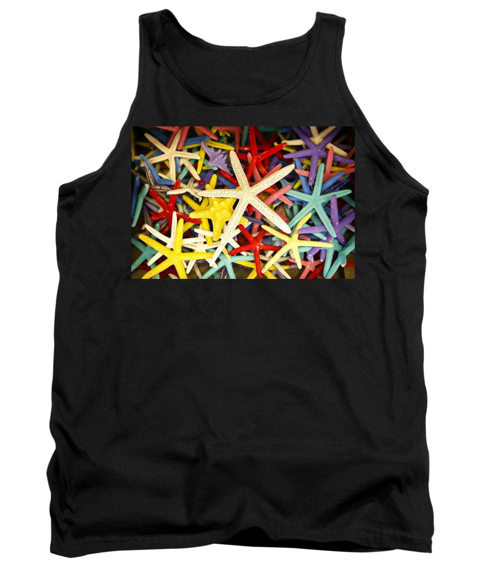 Starfish Tank Top featuring the photograph Starfish Dressed Up by Marilyn Hunt