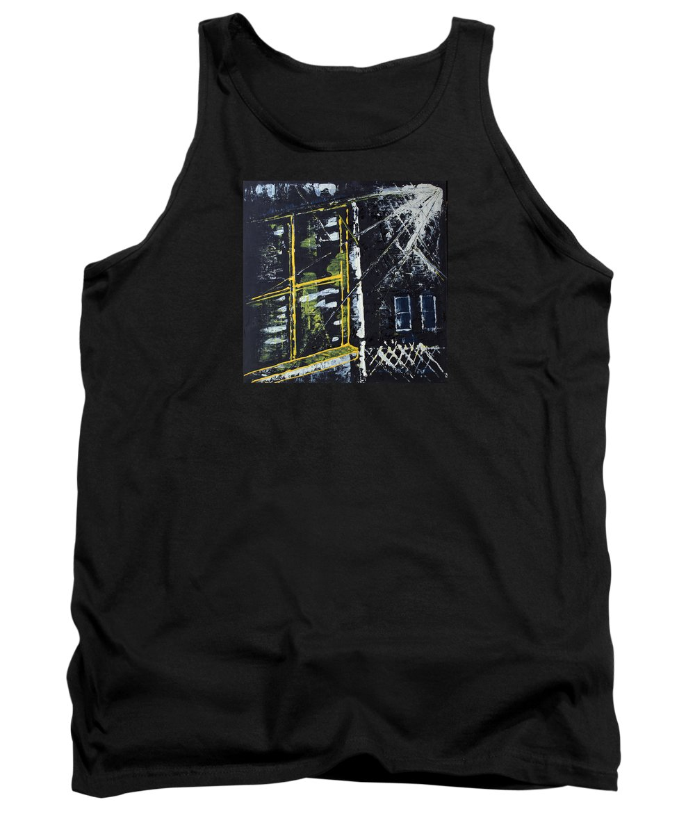 Impressionist Painting Tank Top featuring the painting Staring Out Of A Window by J R Seymour