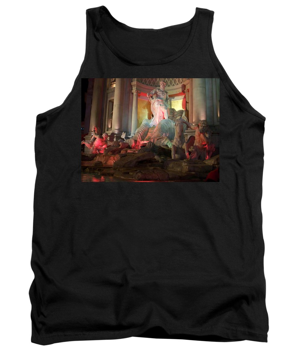 Ceasars Palace Tank Top featuring the photograph Statues At Ceasars Palace by Anita Burgermeister
