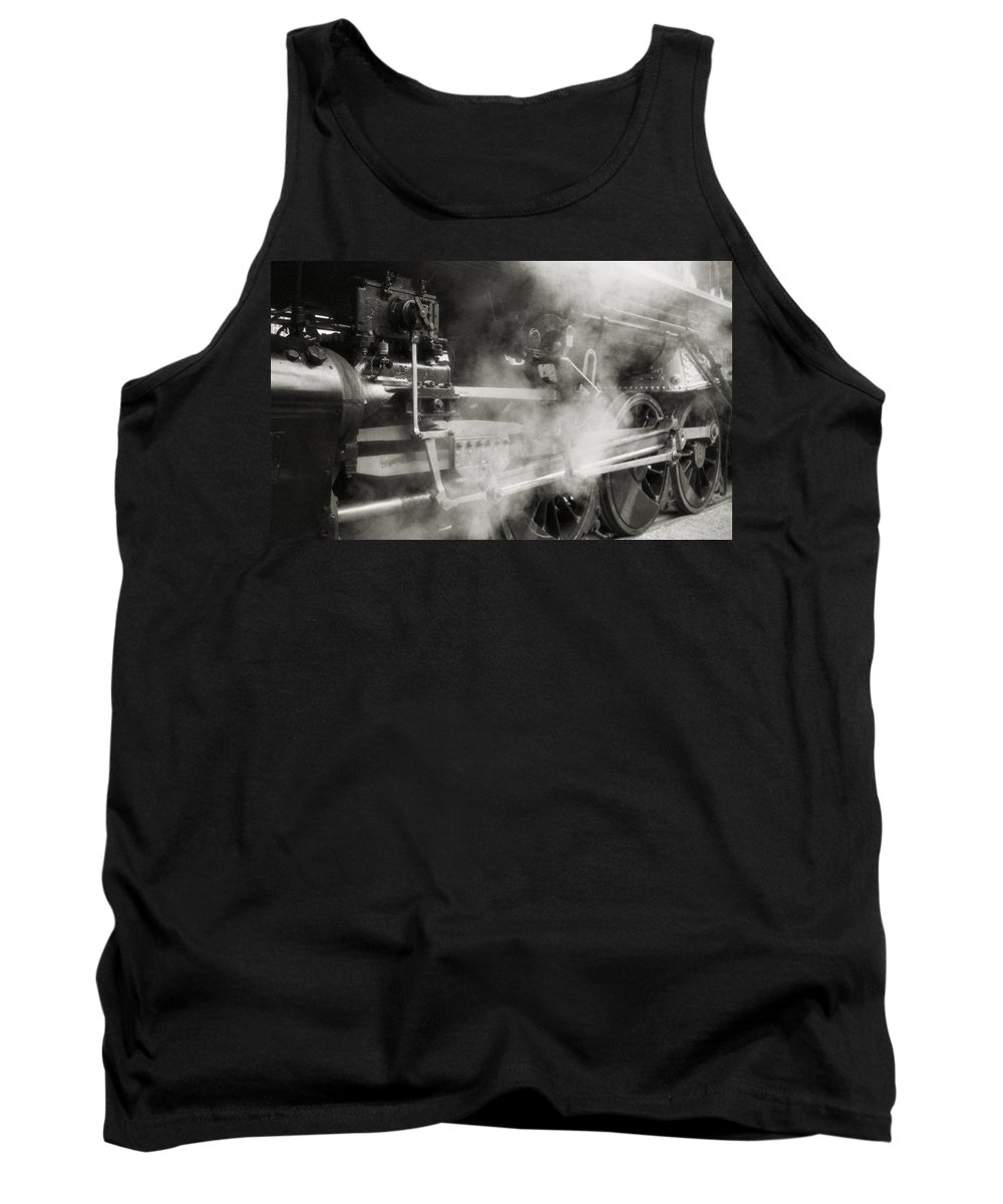 Trains Tank Top featuring the photograph Steam Power by Richard Rizzo