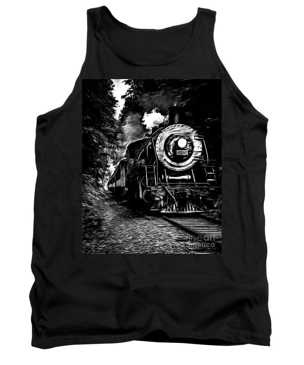 Train Tank Top featuring the photograph Steaming Through The Pass by Edward Fielding