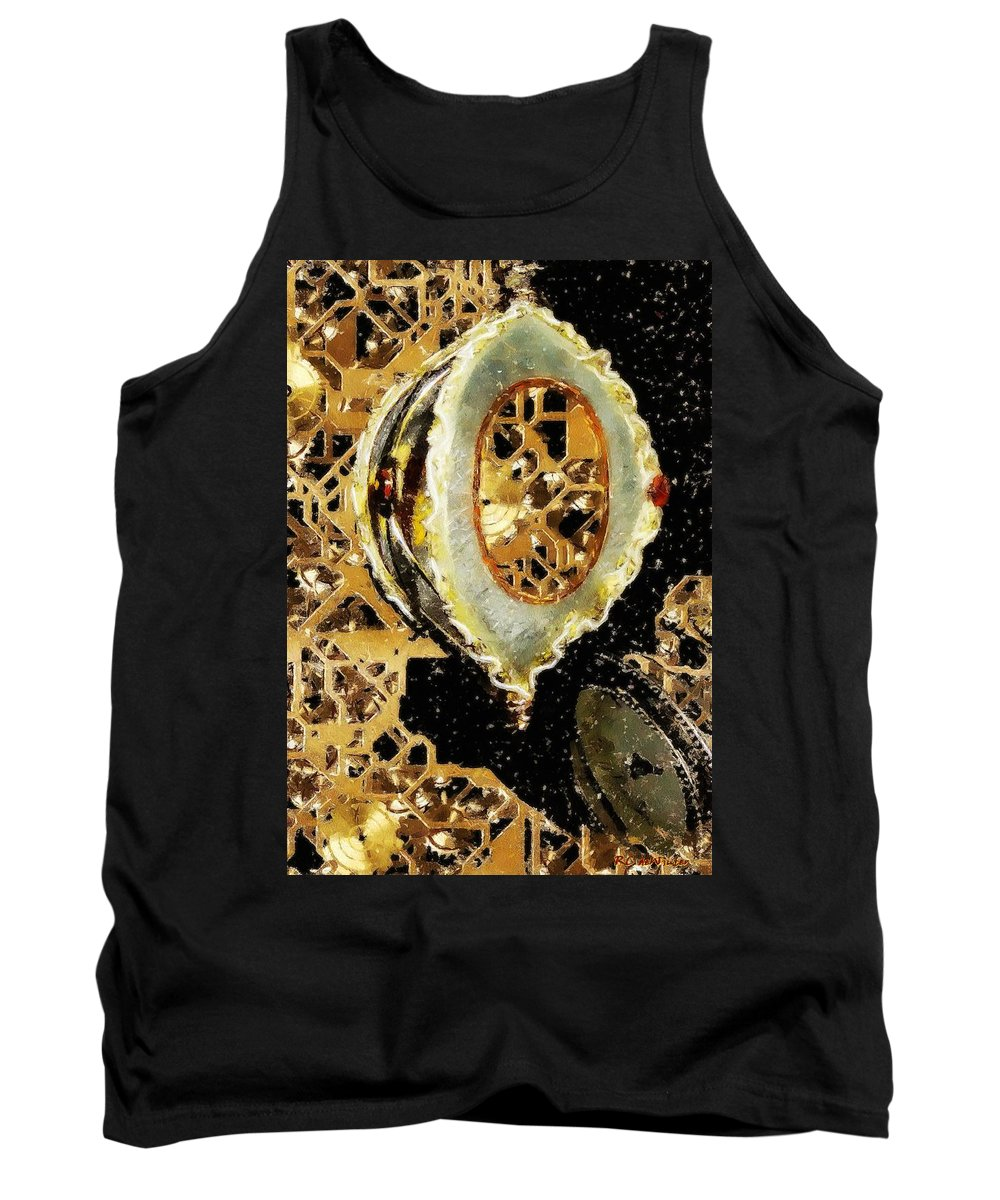 Christmas Tank Top featuring the painting Steampunk Christmas by RC DeWinter