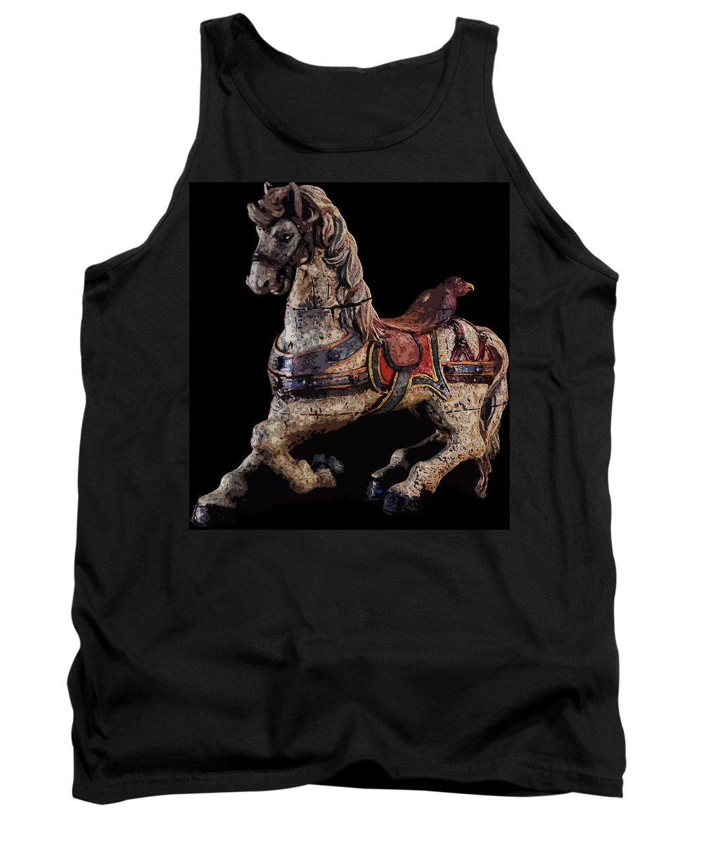 Carousel Tank Top featuring the photograph Steed by James Rentz