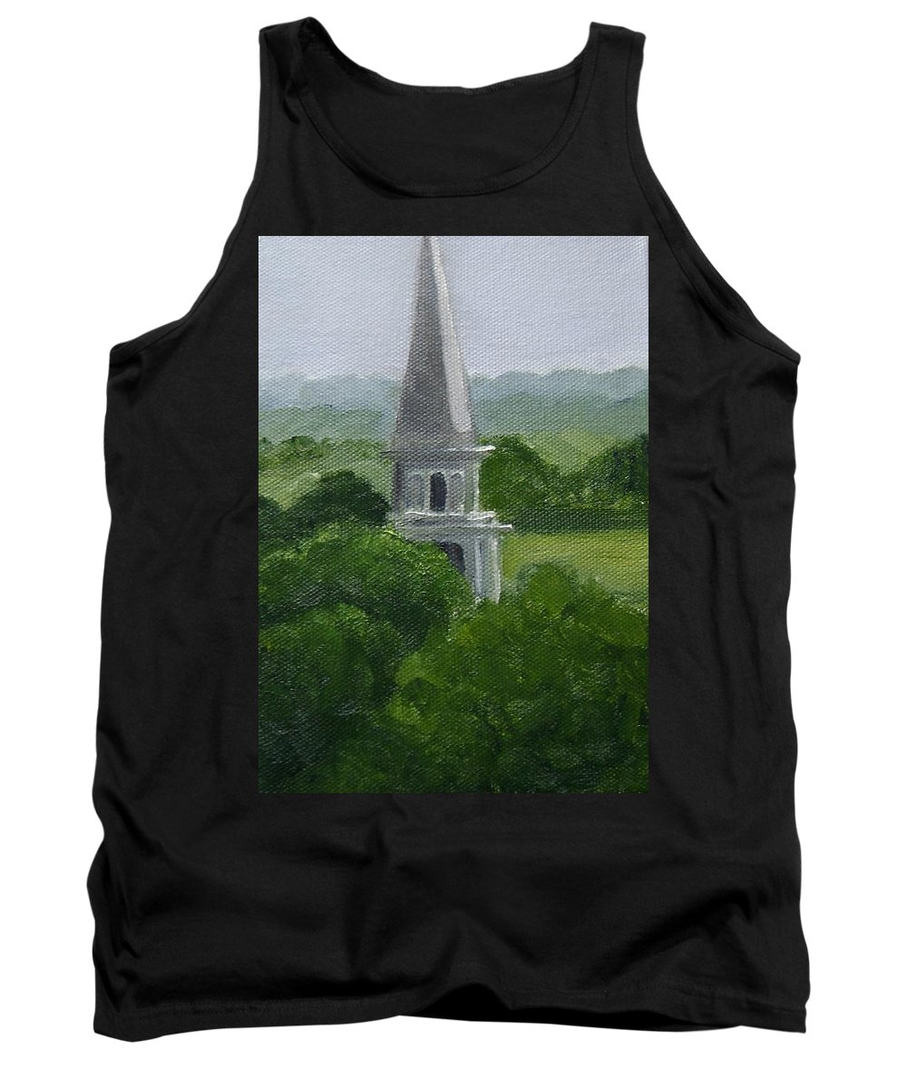 Steeple Tank Top featuring the painting Steeple by Toni Berry