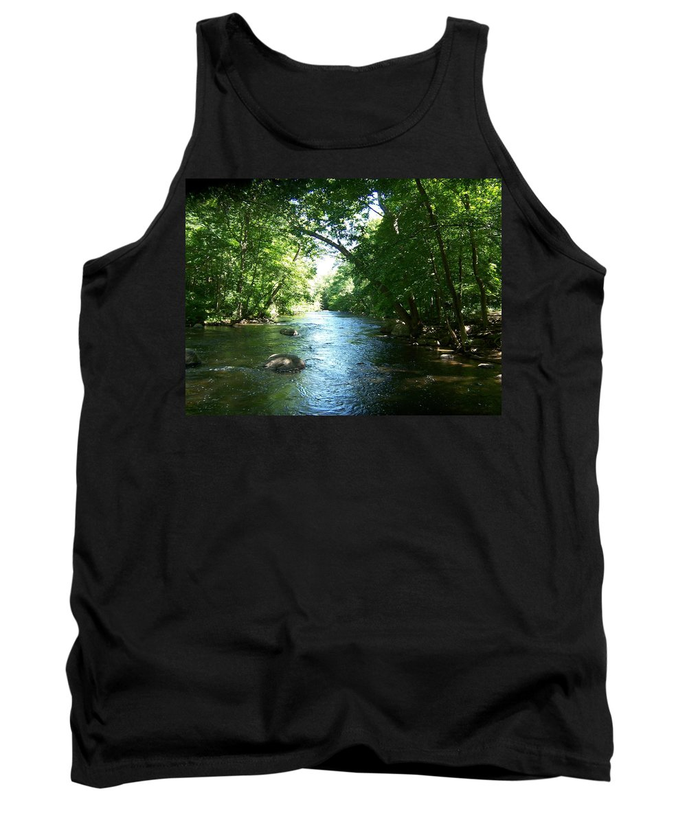 River Tank Top featuring the photograph Stephens State Park by Laurie Paci