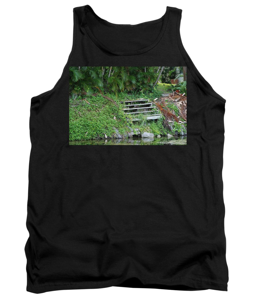 Grass Tank Top featuring the photograph Steps In The Grass by Rob Hans