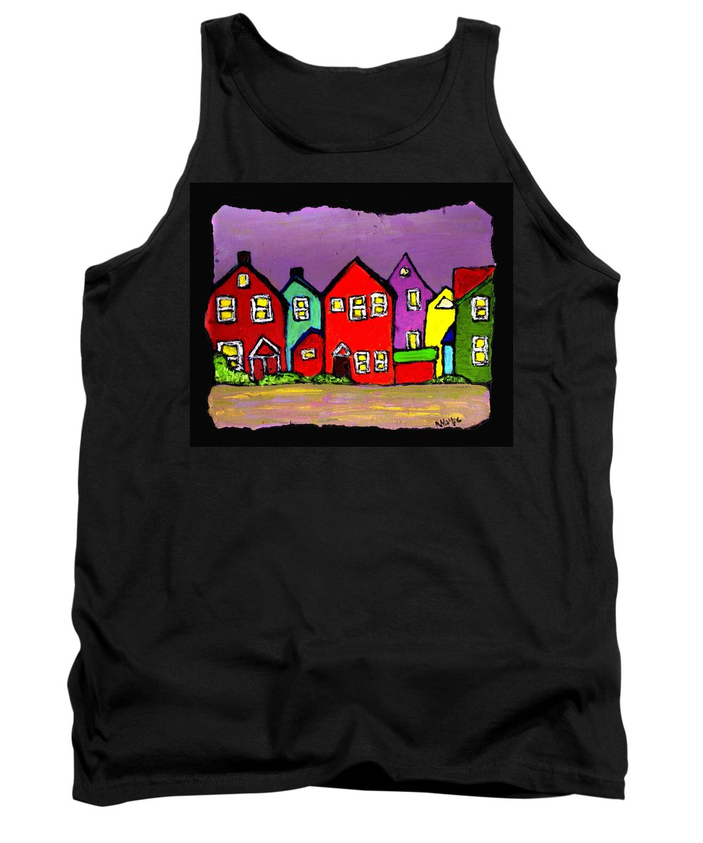 Houses Tank Top featuring the painting Still Standing by Wayne Potrafka