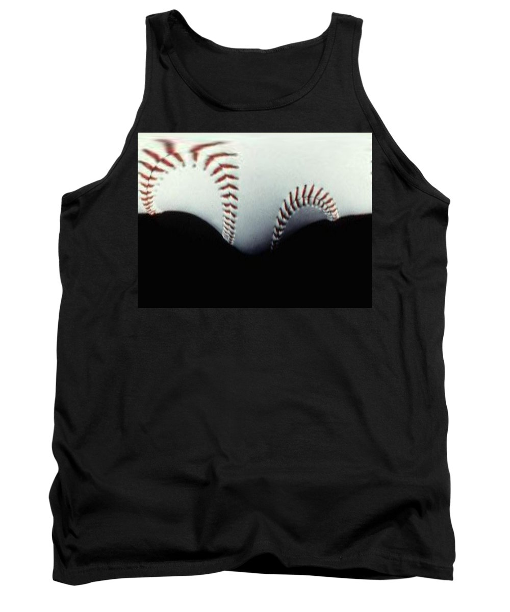 Baseball Tank Top featuring the photograph Stitches Of The Game by Tim Allen