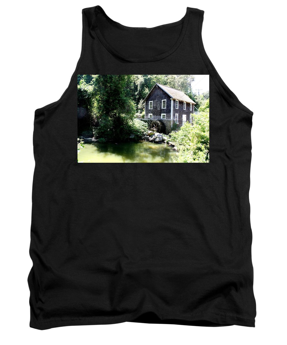 Stony Brook Gristmill & Museum Tank Top featuring the photograph Stony Brook Gristmill And Museum by Donna Walsh