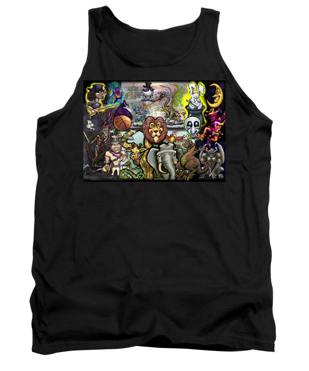 Story Tank Top featuring the painting Storytime by Kevin Middleton