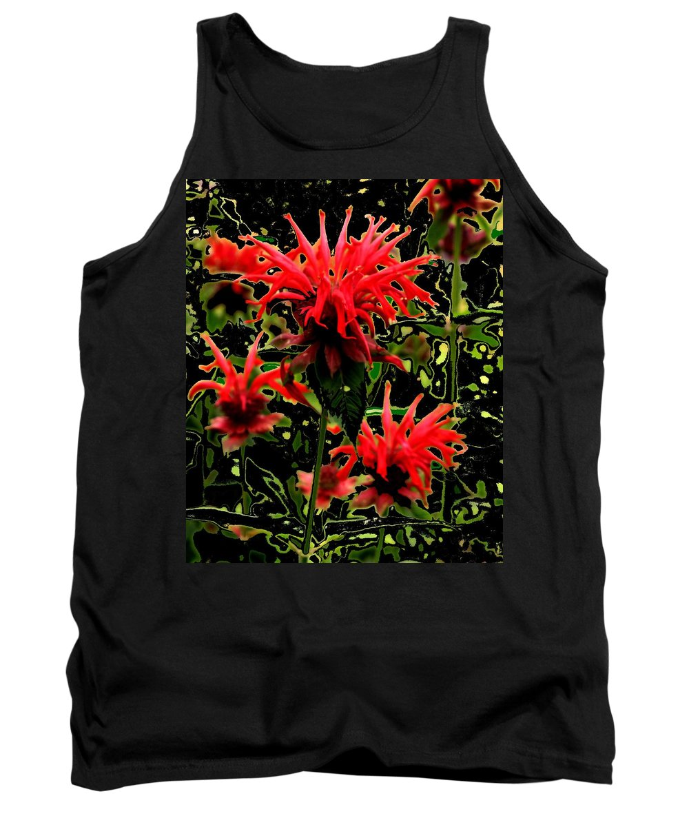 Abstract Tank Top featuring the photograph Strange Garden by Ian MacDonald