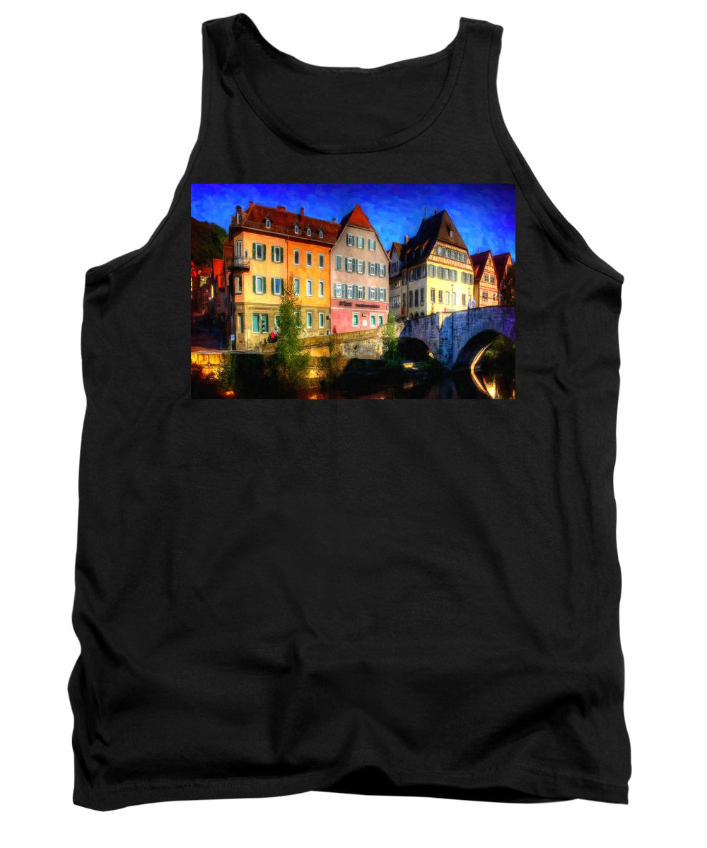 Strasbourg Tank Top featuring the painting Strasbourg 1 by Jeelan Clark