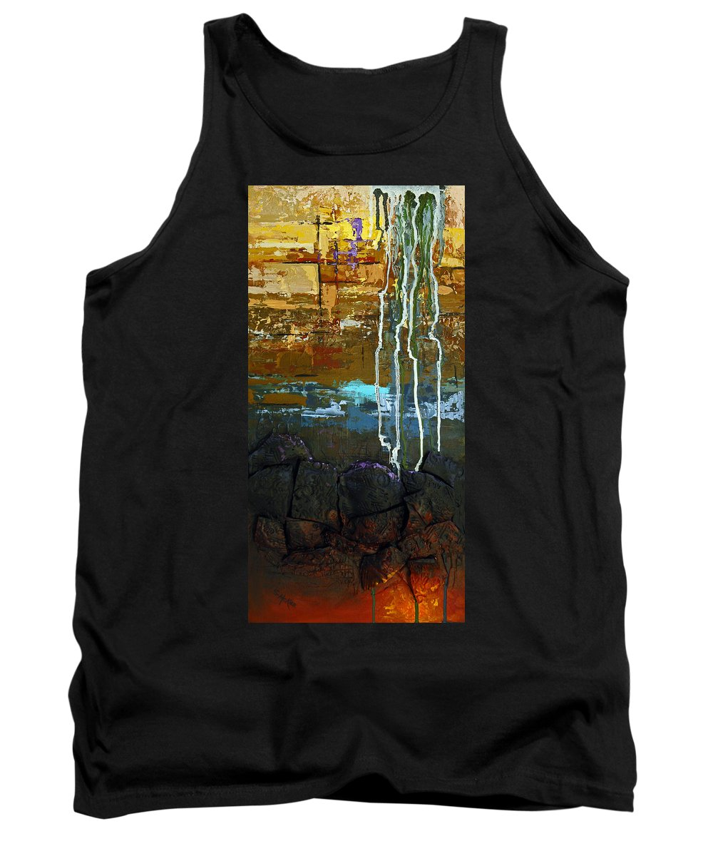 Acrylic Tank Top featuring the painting Strata by Suzanne McKee