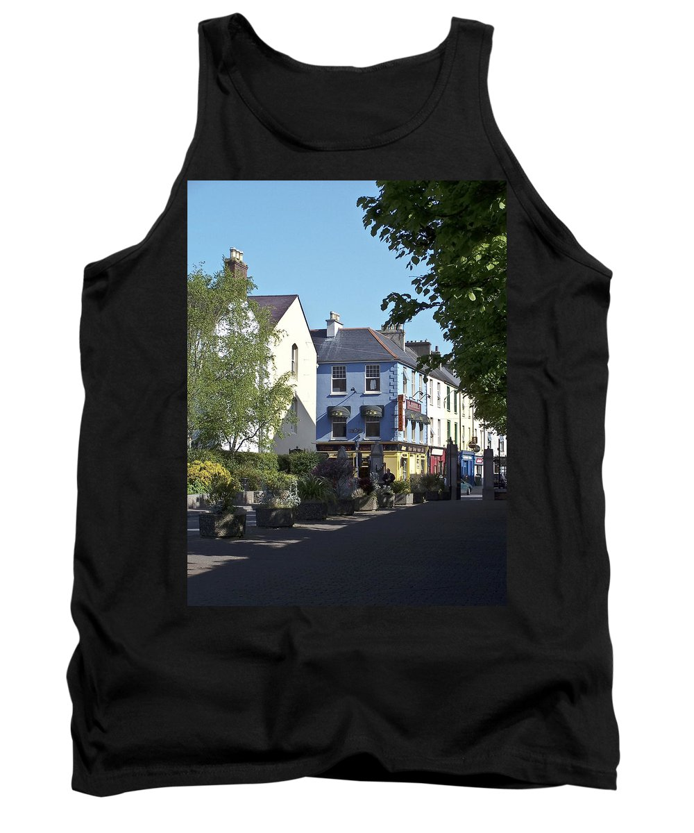 Irish Tank Top featuring the photograph Street Corner In Tralee Ireland by Teresa Mucha