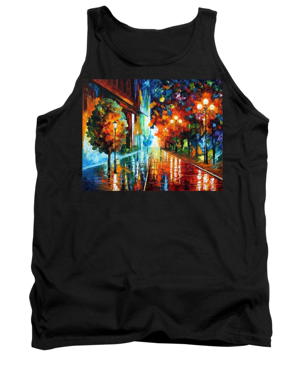 Afremov Tank Top featuring the painting Street Of Hope by Leonid Afremov