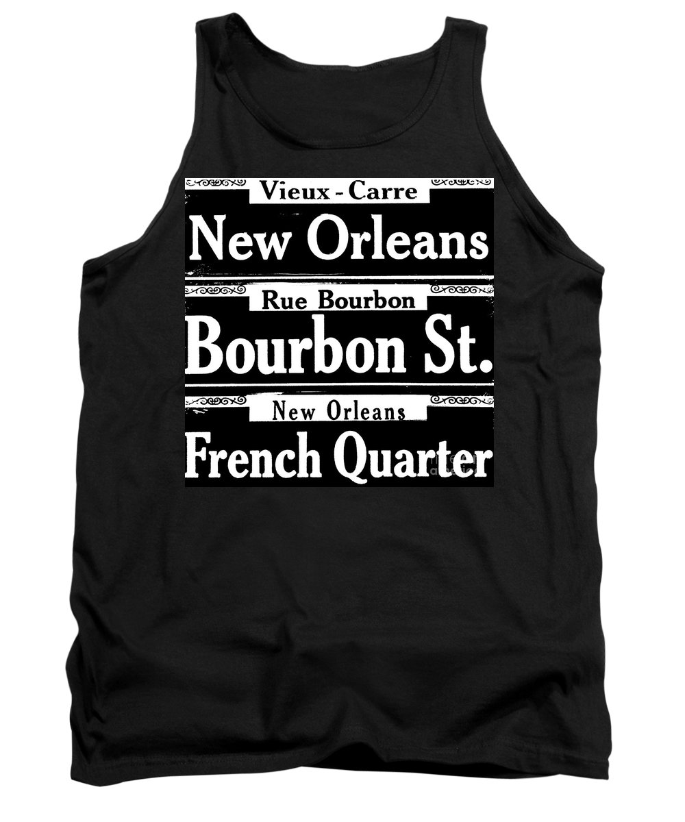 Scenes Of New Orleans Tank Top featuring the photograph Street Sign Scenes Of New Orleans by Saundra Myles