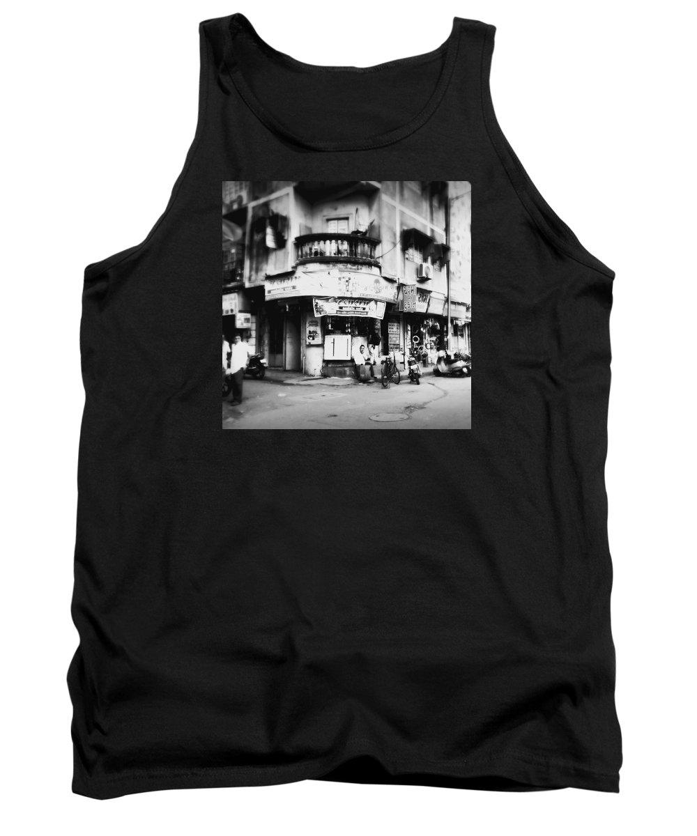 #street Photograohy #crossroads #street Corners #street Shops Tank Top featuring the photograph StreetShots_Surat by Priyanka Dave