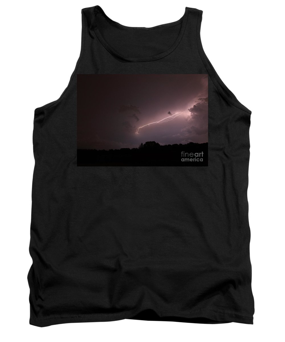 Lightning Tank Top featuring the photograph Strong Arm by Amanda Barcon