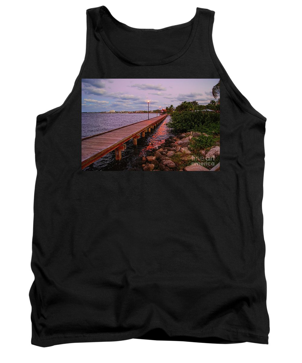 Landscape Tank Top featuring the photograph Stuart Riverwalk Sunset by Olga Hamilton