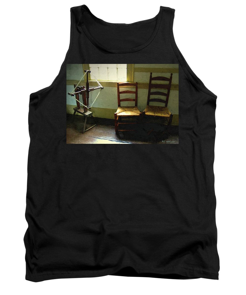 Americana Tank Top featuring the painting Study In Simplicity by RC DeWinter