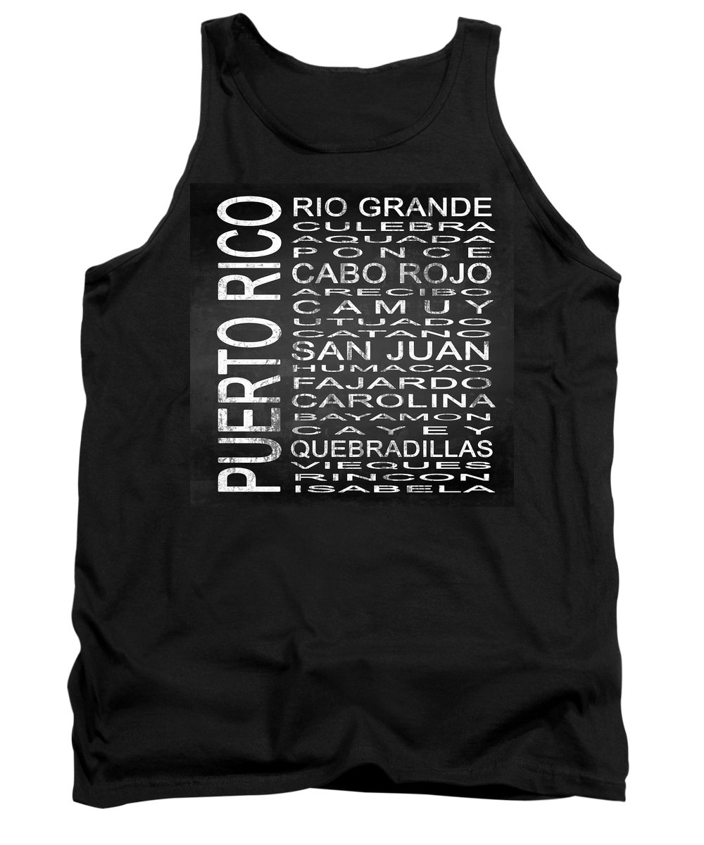 Subway Sign Tank Top featuring the digital art Subway Puerto Rico Square by Melissa Smith