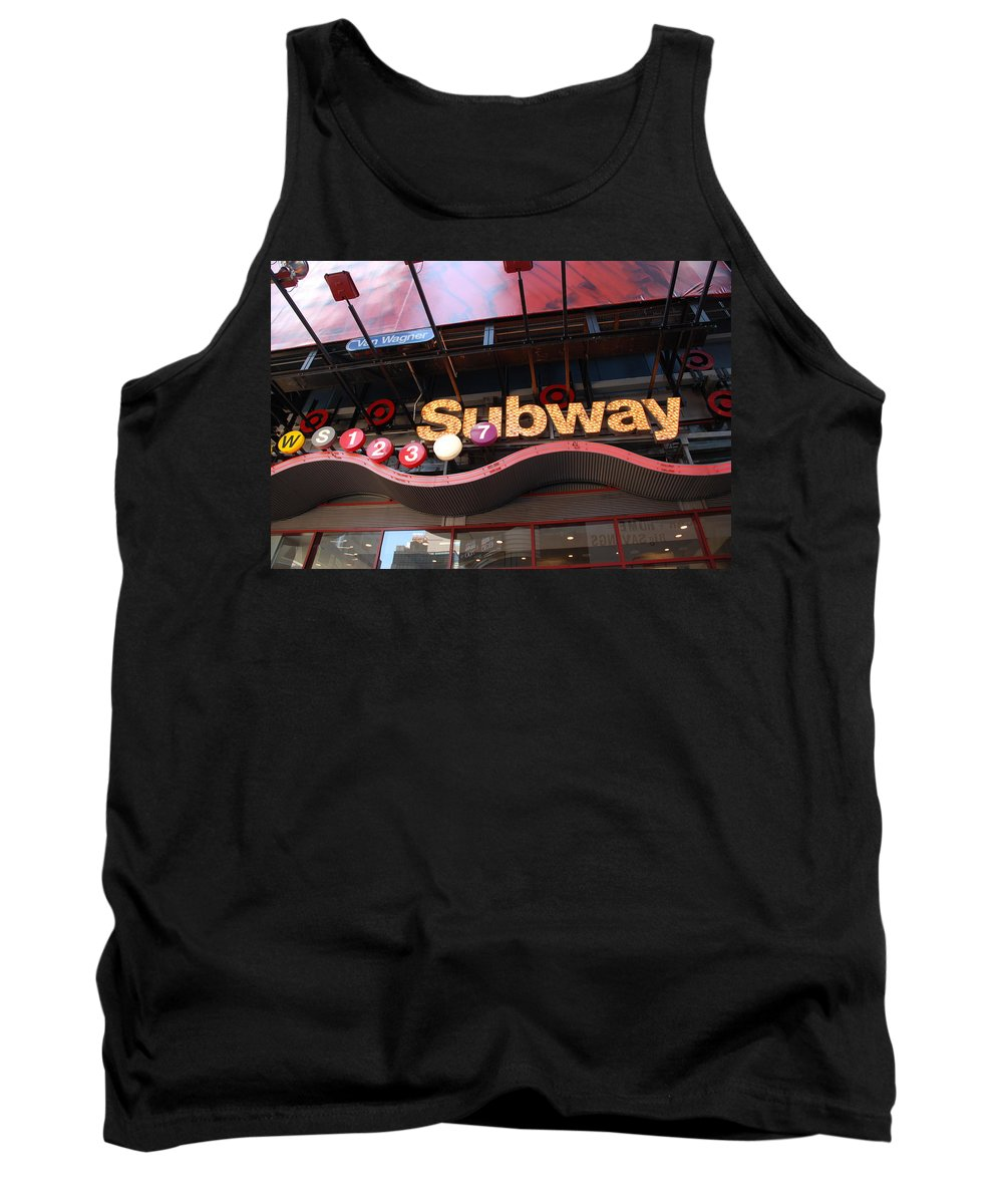 Neon Tank Top featuring the photograph Subway by Rob Hans