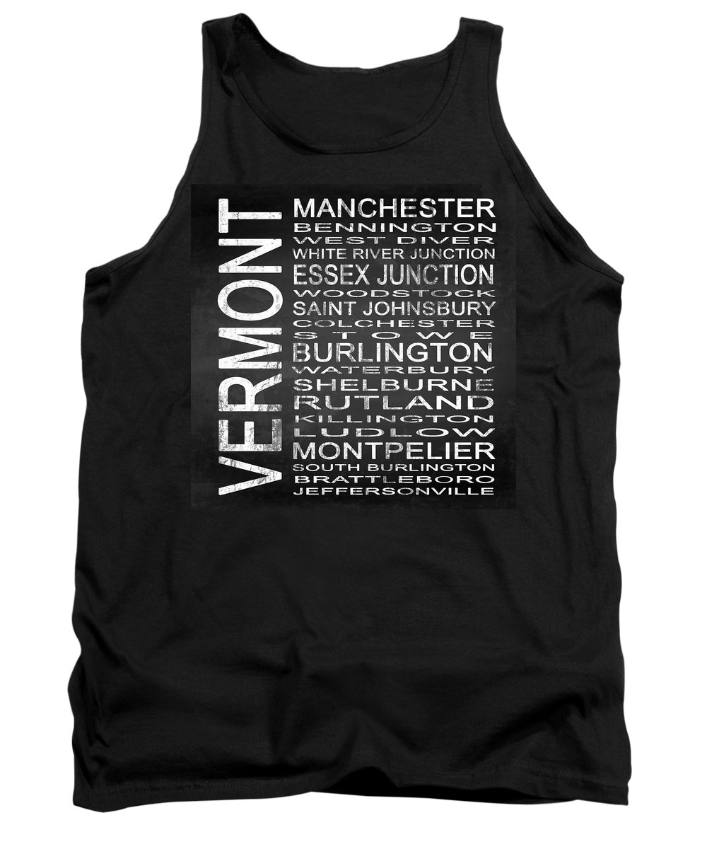 Subway Sign Tank Top featuring the digital art Subway Vermont State Square by Melissa Smith
